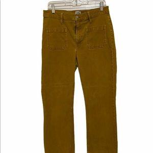 J crew Baillie Demi Boot velvet crop pants.